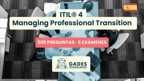 [9.99€ + 2 Regalos] ITIL® 4 MPT - 200 preguntas -5 exámenes