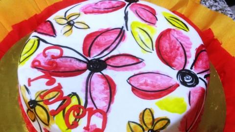 Acuarela Sobre Fondant, Tartas , Galletas, Cupcakes