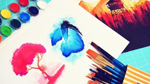 ¡Aprendé los fundametos de la pintura a la Acuarela!