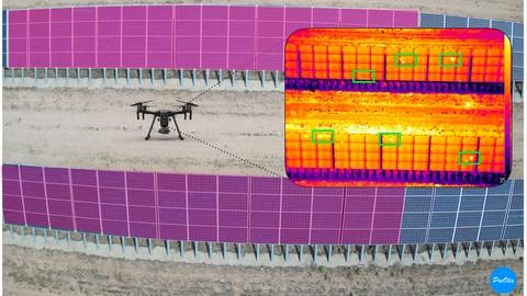 Aprende a realizar una inspección fotovoltaica con drones.