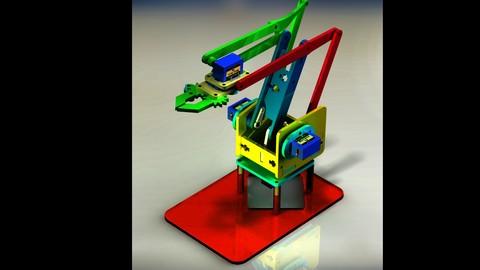 Brazo robotico con SolidWroks, diseño y construcción fácil