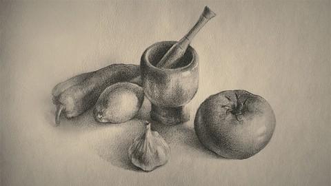 Cómo dibujar un bodegón. Dibujo artístico del natural