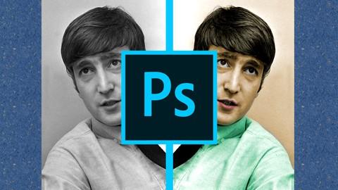 Colorización en Photoshop - ¡Fotos Históricas a Todo Color!