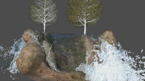 Creando una cascada en Autodesk Maya con Bifrost