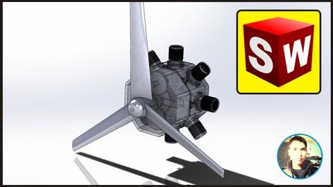 Curso de Solidworks módulo de ensamble | Motor Estrella