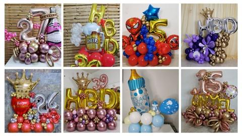 Curso Profesional en Arreglos - bouquet de globos desde cero