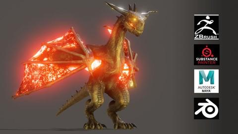 Dragón Hiperreal para Film o Game e Inducción a Blender