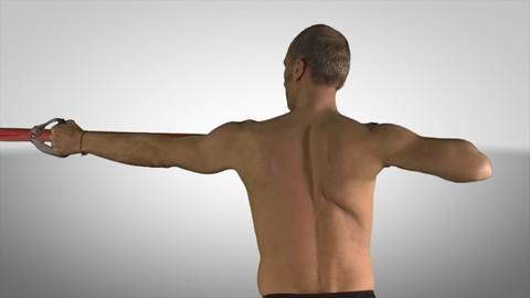 Ejercicio terapéutico para el hombro.