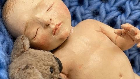 Escultura de bebé realista miniatura (reborn)