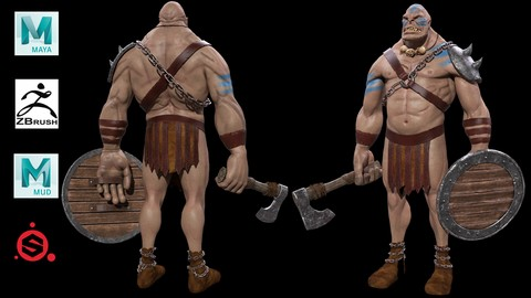 Orco realista en Maya, ZBrush y Substance Painter 2019