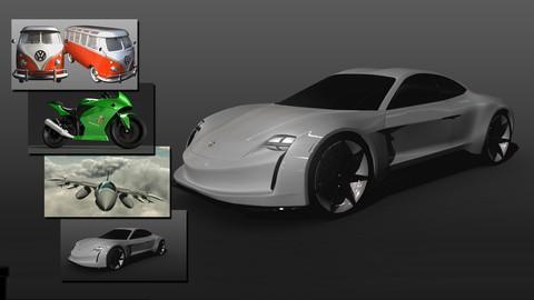 PACK 4 en 1 - Modelado y Texturizado de vehículos en Maya