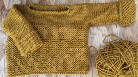 Tejido - Sweater León - Con agujas circulares