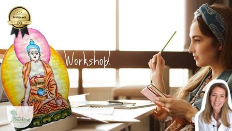 Thangka: aprende a dibujar y colorear pintura tibetana