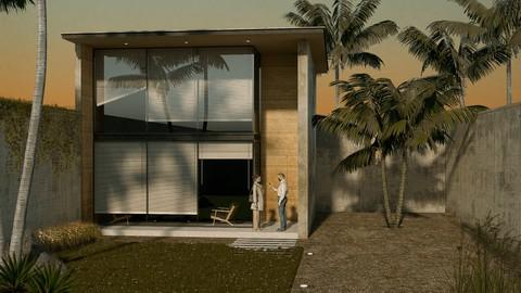 Visualización arquitectónica de exteriores con Vray Next